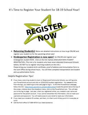 How to register your student for the upcoming school year...