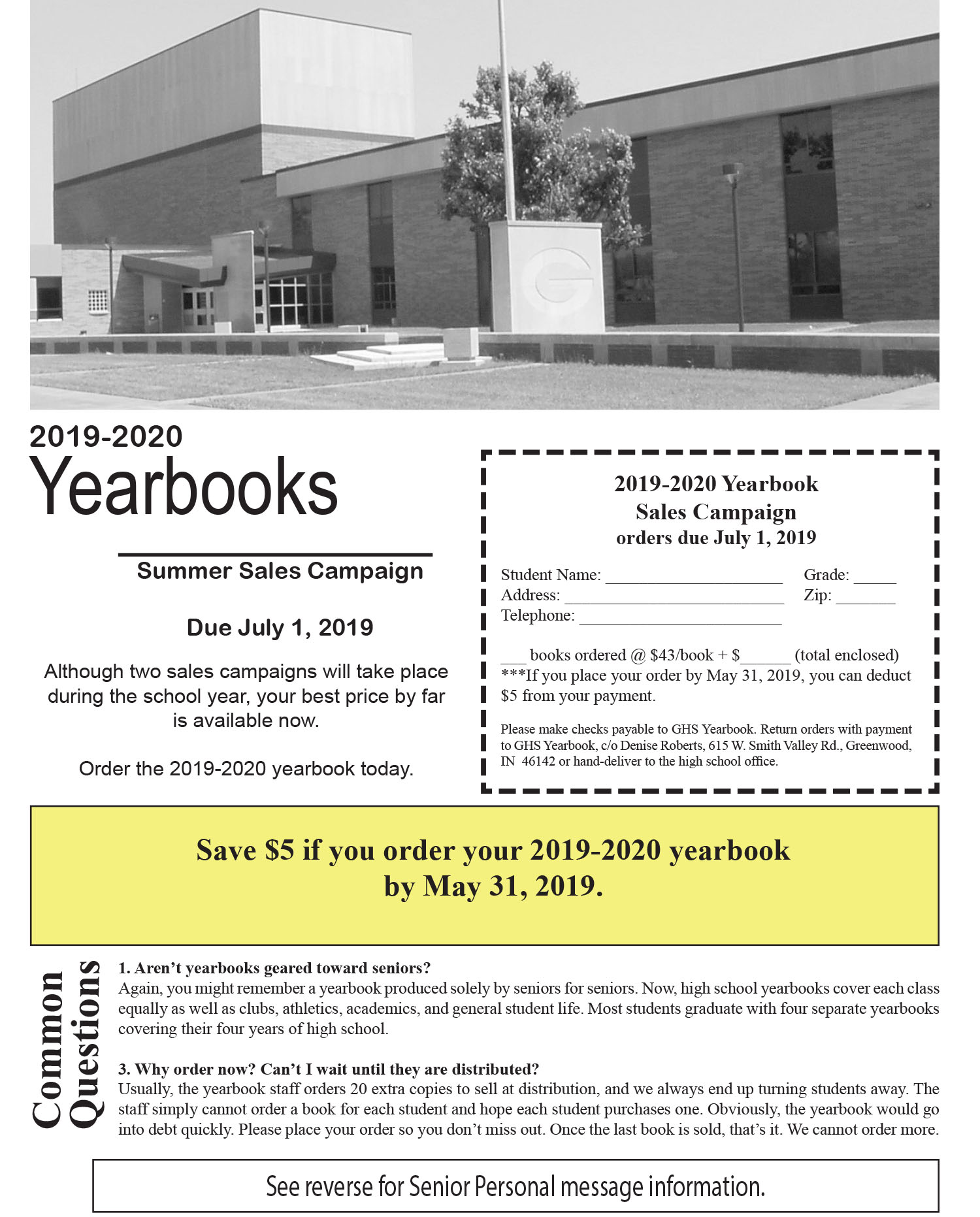 Best After Christmas Sales 2020 Early Bird 2019 2020 Yearbook Sales